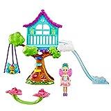 Barbie Dreamtopia Coffret Cabane dans l'Arbre Enchantée avec Mini-poupée Chelsea Fée, Figurine Chiot et Accessoires, Jouet pour Enfant, GTF49