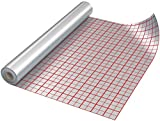 ALUFLOOR 110 gr/m² - film d'isolation thermique pour système de chauffage au sol - rouleau de 50 m² (1m x 50m)