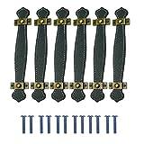 Qixuer 6 Pièces Poignée de Valise,Poignée de Meuble en Cuir Vintage Poignées de Valise en Cuir Poignée Commode de Porte D'armoire Poignée de Rechange de Sangle pour Porte de Placard de Tiroir