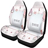 Fall Ing Housses de siège de voiture Blue Announcement Baby Girl Arrival Place For Your Greeting Auto Accessories Protectors Universal
