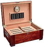 WANGXIAOYUE Boîte à cigares Humidificateur avec humidificateur et hygromètre Voyage Pine Portable Pin de Grande capacité Double Armoire à cigares Boîte à Tabac