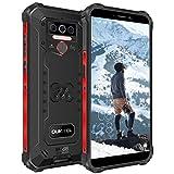 OUKITEL WP5 Téléphone Portable Incassable, IP68 Smartphone Antichoc Étanche, Grande Batterie 8000 mAh, 4GO + 32GO, avec 4 Lampes de Poche LED, Triple Caméra, Android 9.0, Dual SIM 4G (Noir)