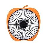 Maxpex 200W Chauffage éLectrique de Bureau Mini Portable, Tube Halogène Chauffage Instantané, Réchauffeur d'Air Domestique de 6 Pouces, Surface Applicable 21-25㎡ (Orange)