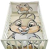 Housse de Couette Bebe 100x135cm et taie d'oreiller 40x60cm | Parure de lit PanPan pour lit 60x120 ou 70x140cm | Linge de lit Disney pour Tout-Petits 100% Coton