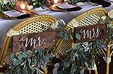 CELYCASY - Panneaux en Bois Mr et Mrs pour Chaise Mr et Mrs - Collection Sophia