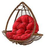 Coussins d'extérieur pour chaises de patio Coussin de chaise en osier suspendu, hamac Coussin de siège épais Berceau de balançoire confortable pour la terrasse extérieure sans support Chaise Pad-F, c