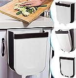 YUKE Kitchen Poubelle Pliable Wall Mounted Portable Petite Poubelle, Design Suspendu, Attaché À L'armoire Porte Cuisine Tiroir Chambre Dortoir Poubelle, pour Voiture Bureau à Domicile 9L