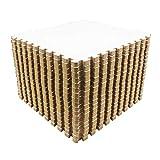 Amazon Brand - Umi - Dalles en mousse à emboîter de 1' x 1' (30,5 x 30,5 cm) (Lot de 9, blanc)