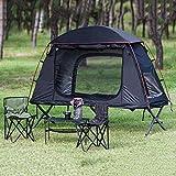 ZLRE Tente à baldaquin Pliante avec Foyer, Tente de lit de Camp, Tente Hors-Sol Coupe-Vent, pour Le Camping, la randonnée, Les Voyages, la Tente au Sol multifonctionnelle