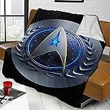 Star Trek Couverture en flanelle polaire douce pour canapé double face super douce réversible pour lit et canapé, couverture chaude et légère pour décoration de la maison