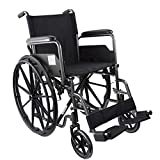Mobiclinic, Mod. S220 Sevilla, Fauteuil roulant pliable, Autopropulsé, Pour personnes âgées handicapées, Orthopédique, Accoudoirs Pliants, Largeur du siège 43 cm