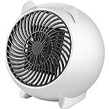 LUWEI Réchauffeur électrique Petits radiateurs, 500W Mini radiateur soufflant Spatial, Chauffage Portable en céramique avec Thermostat, dortoir à Chauffage Rapide à Usage intérieur,Blanc,US Plug(110V