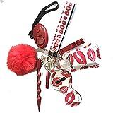 GXSB Porte-clés Bracelet Key Bague Femme Auto Protection 130DB avec Dispositif d'alarme pour Femme Fille et Enfants