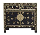 Fine Asianliving Buffet Chinois Commode Chinois Meubles Chinois Armoire de Mariage Chinoise Style Rangement Chinois Mobilier Oriental Armoire Orientale Asiatique Mandarin Pekin 90 x 80 x 40