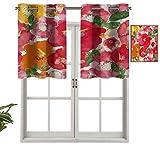 Hiiiman Lot de 2 cache-sommier occultants de qualité supérieure - Effet aquarelle - Motif floral et feuilles - 137,2 x 61 cm - Pour chambre à coucher