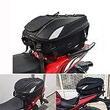 Sac de siège/Sac de Moto - Double Usage Sac à Dos pour Moto Sac à Bagages étanche Sac de Rangement pour Casque de Moto