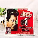 AZSOGOOD Couverture de canapé imprimée en 3D Elvis Presley Couverture de Voyage Couverture en Flanelle Douce et Confortable, Le Cadeau Le Plus Chaud pour Les Amis Qui Aiment Elvis-E_135x150 cm * 1