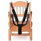 Domybest Harnais 5points Sécurité bébé Sangle de ceinture de sécurité pour chaise haute Poussette Landau Buggy