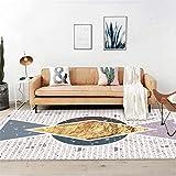 PANGLDT Tapis Chic Noble Moderne Design -Tapis doré Nordique géométrique en terrazzo- Salon Chambre Maison Tapis Coussin de Chaise d'ordinateur-40X60cm