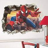 Stickers muraux Marvel Spiderman pour la décoration de la chambre des enfants de l'école maternelle en carton animé PVC Rotto Wall Art Decals Poster