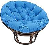 HZYDD Chaise Longue Coussin, Coussin de Chaise à Bascule Rond Doux Haut de Gamme, Coussin de siège Radar de Mousse de mémoire Originale 110x110cm (Color : Treasure Blue, Size : 130x130cm)