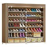 IBEQUEM Meuble à chaussures en tissu non tissé anti-poussière avec 7 niveaux de rangement Armoire à chaussures indépendante et peu encombrante