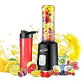 Housmile Blender Portable Smoothie Puissant 500W, Mélangeur Multifonction de Haute Qualité avec 2 Bouteilles 600ML/300ML, Idéal pour Mixer les Fruits, Légumes, Milkshakes, Aliments pour Bébés