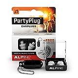 Alpine PartyPlug Bouchons d'oreilles : protections auditives pour la musique (fêtes, festivals et concerts) - Restitution parfaite du son - Hypoallergéniques et réutilisables - Embouts blancs