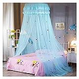 AMAFS Filet de lit auvent pour Enfants moustiquaire crypté Fil Hexagonal dôme Dessin animé Dentelle Rideaux de lit en Tissu pour lit Simple de 1 à 1,5 m (Taille : 1,35 m/4,5 Pieds) Happy House