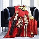 Au-Sti-n Blanket & Al-ly Plaid doux en flanelle polaire toutes saisons léger pour canapé, salon, chambre à coucher, noir 127 cm x 40 cm
