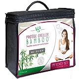 My Lovely Bed - Protège Oreiller 50x70cm - Viscose - Soyeux et Confortable - Fermeture par Zip - Forme Rectangulaire