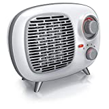 Brandson - Chauffage soufflant céramique 1500 watts - Chauffage électrique - 2 niveaux de chauffage - Contrôle de la température - Thermostat - ventilateur - Fusible thermique - Design rétro vintage
