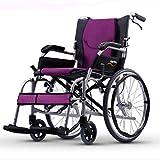 YIQIFEI Fauteuil Roulant Pliant léger Manuel Ultra léger en Aluminium Portable pour Les Personnes âgées handicapées Voyage (Fauteuil Roulant)