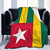 huatongxin Shaggy Couverture Throw,Throw Couvertures,Microfleece Couverture,Couch Wrap,Togo Flag Men & Women Flannel Couverture for Sofa Bed Home Office,All Seasons S