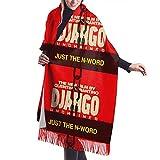 Yuanmeiju Écharpe longue mode femme Django Uchained Cashmere Wool Shawl Wraps Extra Large Thick Soft Pashmina Scarf