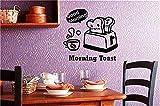 autocollant mural stickers muraux chambre Cuisine positive Good Morning Pain grillé