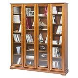 Beaux Meubles Pas Chers Bibliothèques, Panneaux de Particules de Bois plaqué merisier, Marron, 161