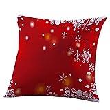 Covermason de vœux de Noël Motif IMPRIME Taies d'oreiller Canapé Rome Housse de coussin Décoration de la Maison, b, 45cm *45cm