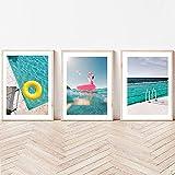 Toile de peinture Piscine Print Toile Peinture,Palm Spring Art Poster,Bondi Lcebergs,Sydney Beach Wall Pictureest,Décoration de la maison moderne (Size (Inch) : 50X70cm No Frame)