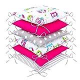 Tour de lit de bébé Design8 de Amilian® - Protège la tête et les bords- 210cm