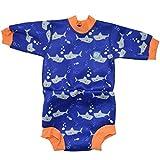 Splash About - Combinaison de plongée - Mixte enfant - Shark Orange - FR : XL (Taille Fabricant : 12-24 mois)