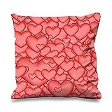 Rose bubble Love Hearts mignon ST VALENTIN en forme de cœur imitation soie Canapé Coussin
