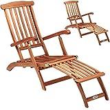 Deuba 2X Chaise Longue en Bois Queen Mary - transat Bain de Soleil Chaise de Jardin siège Relax