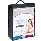 My Lovely Bed - Protège Matelas 140x190/200 cm | Alèse Tissu Coolmax® : évacuation Rapide de l'humidité | Aspect Respirant et Absorbant - Compatible Grands Bonnets