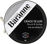 Baranne - Cirage de Luxe Noir Traditionnel à la Cire d'Abeille - Nourrit, Protège, fait Briller et Ravive le Cuir des Chaussures - Fabrication française - 75ML