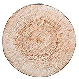 Brandsseller Coussin Tronc d'arbre Coussin décoratif Coussin de Chaise - Dimensions: env. 40 x 4 cm - 2 Motif