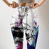 WATERSPA Leggings imprimés absorbants, taille haute pour femme, pantalon de yoga, leggings de course à pied extensible - Blanc - XL