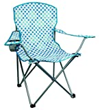 Highlander Chaise de camping/pêcheur de Chaise avec accoudoirs et porte-gobelet, Blue Swirl, fur007Mo