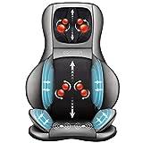 COMFIER Siège Massant Shiatsu pour Dos & Cou - Masseur de Dos Complet à Pétrir 2D / 3D avec Chaleur et Compresse réglable, Fauteuil Massant pour hanche/nuque/dos, Masseur Complet du Corps