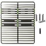 AltoBuy ALTOZONE - Pack Sommier 2x16 Lattes 140x190cm + Pieds Gris + Pied Central